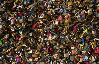 Remembrance Locks on Pont des Arts, Paris, France - 2015