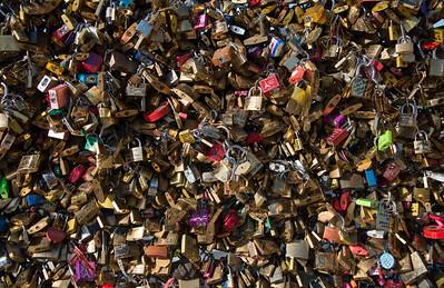 Remembrance Locks on Pont des Arts, Paris, France - 2015