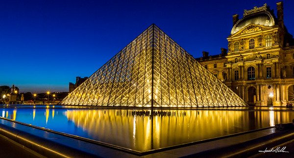 Reflections, late night at the Louvre