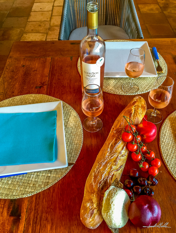 Lunch in Provence at Chateau Maravenne