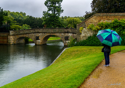 A reflective moment in the rain near the River Cam