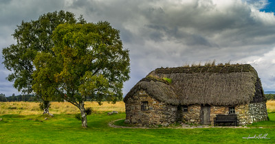Old Leanach Cottage at Culloden Battlefield