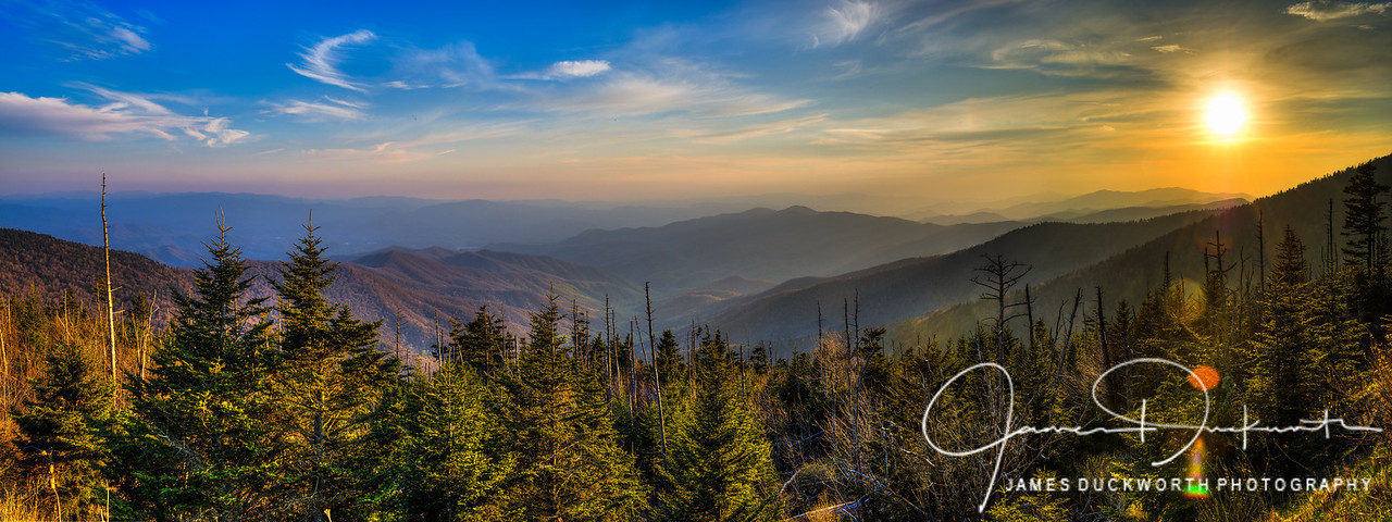 Clingman's Dome Sunset, Great Smoky Mountains