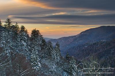 Newfound Gap Sunset, Great Smoky Mountains National Park