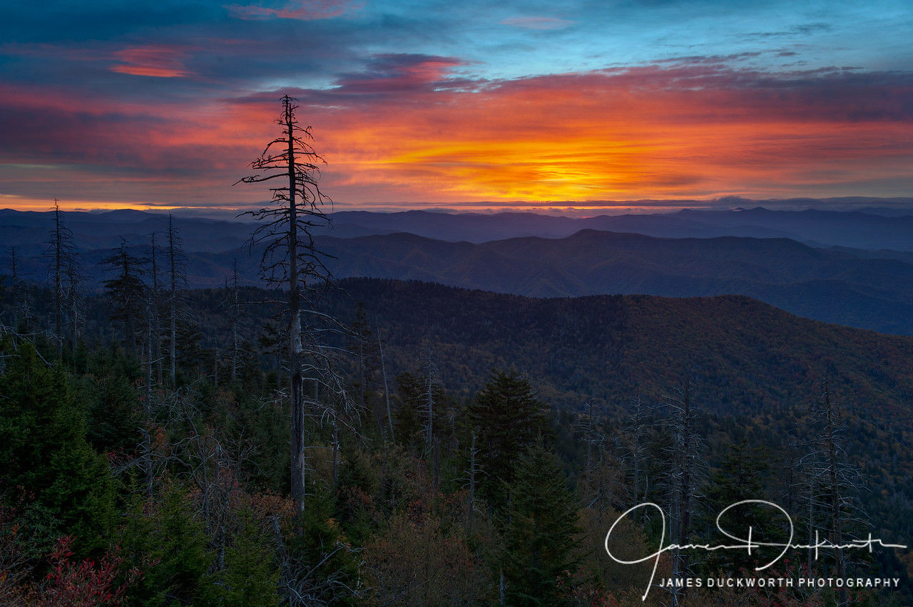 Clingman's Dome Sunrise, Great Smoky Mountains National Park