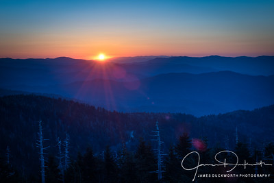 Daybreak in the Smoky Mountains