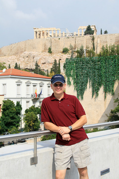 Steve at the new Acropolis Museum
