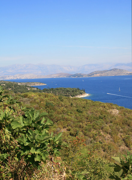 View of the Albanian coast from Corfu
