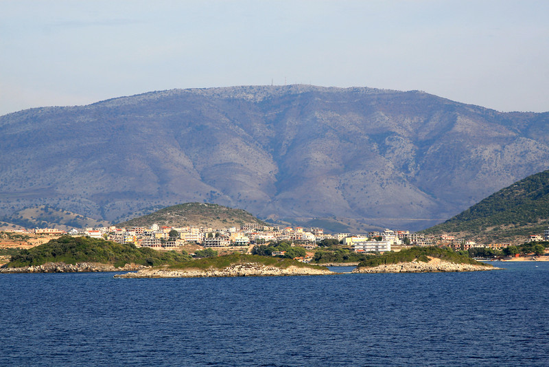 View of the Albanian coast as we sail out