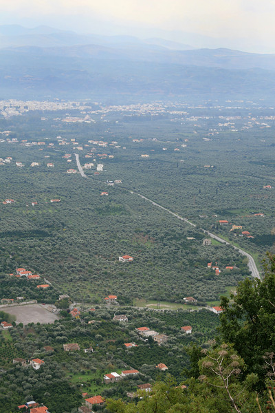 View of Sparti from Mystras