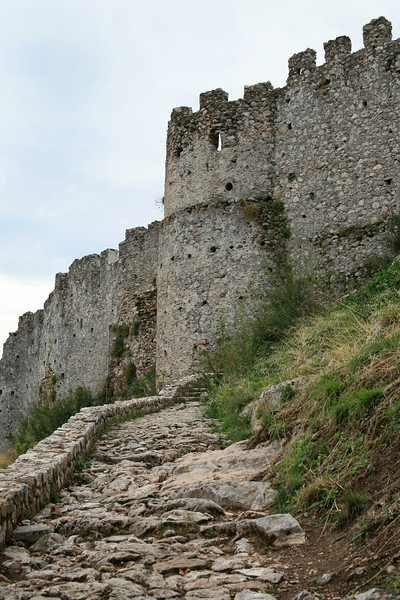 The road to Villehardouin's Castle (Mystras)