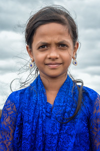 Girl in Badami, India - 2017