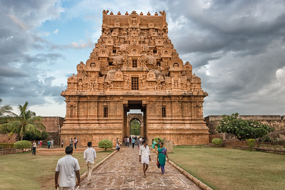 Brihadeeswarar Temple Gate, Thanjavur, India - 2017