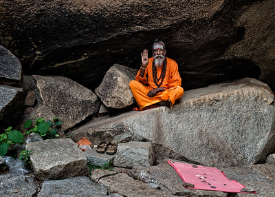 Priest in Hampi, India - 2017