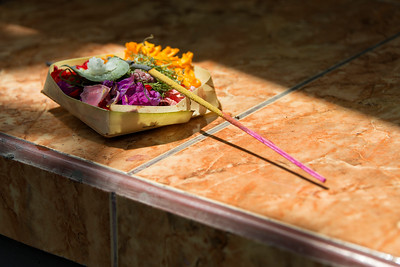 Flower and Incense Offering, Bali, Indonesia - 2016