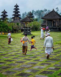 Family at Besakih Temple, Bali, Indonesia - 2016