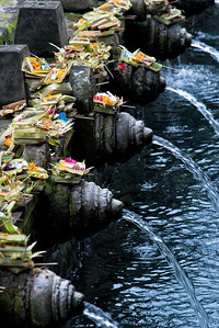 The Sacred Waters at Tirta Empul Temple, Bali, Indoneisa - 2016