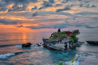 Sunset at Tanah Lot, Bali, Indonesia - 2016