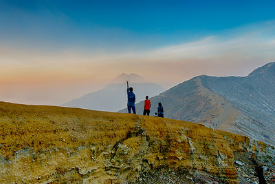 Sunrise, Slopes of Mt. Ijen, East Java, Indonesia - 2016