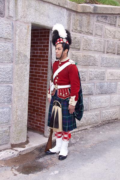 Royal Guard at The Citadel fort in Halifax, Nova Scotia, Canada.