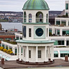 Citadel Clock Tower or Old Town Clock at Halifax harbour and downtown, Nova Scotia, Canada. The clock began keeping time for the Citadel Fort and Halifax in 1803.