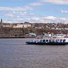 Ferry Boat on the St Lawrence River at Quebec City, Quebec, Canada.