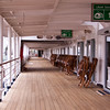 Lower Promenade Deck on Holland America Cruise Ship Maasdam, docked at Quebec City, Canada.