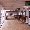Lower Promenade Deck on Holland America Cruise Ship Maasdam, docked at Quebec City, Canada.