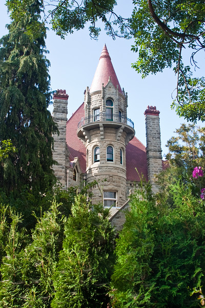 Craigderroch Castle in Victoria, British Columbia, Canada. Built by wealthy coal baron, Robert Dunsmuir, Craigdarroch Castle<br /> is a stunning example of the finest architecture, materials and<br /> craftsmanship available in the Victorian era.