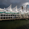A view of Canada Place in Vancouver, British Columbia, from aboard the Holland America Cruise Ship 'Volendam'