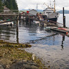 The MV Lady Frances Barkley, a working freighter that delivers mail, supplies, and freight to islands, lodges, and houseboat communities along the salt water inlet that leads from Bamfield to Port Alberni, British Columbia.