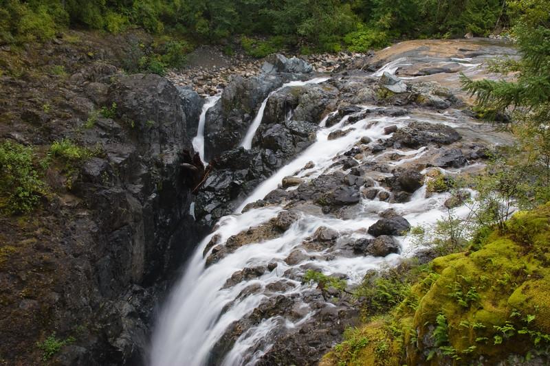 Englishman's Falls on Vancouver Island, British Columbia. Near Parksville.