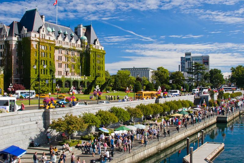 The Fairmont Empress Hotel at Victoria Harbour in Victoria, British Columbia.