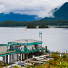 Tofino harbour, at Tofino, British Columbia on the west coast of Vancouver Island. Stormy weather is common here.