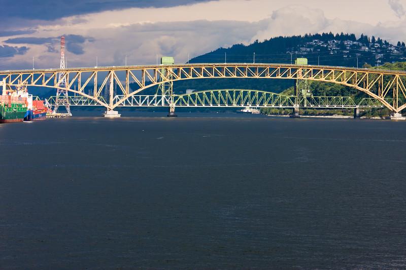 Lion's Gate Bridge in Vancouver, British Columbia.
