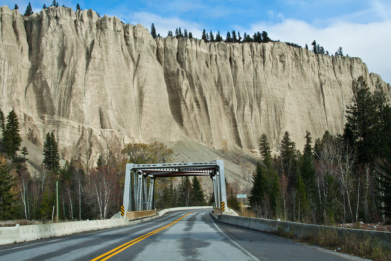 Scenic Drive on highway 93 in British Columbia Rocky Mountains in Canada.
