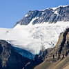 Crowfoot Glacier on Crowfoot Mountain at Bow Lake, in Banff National Park, Alberta, Canada.