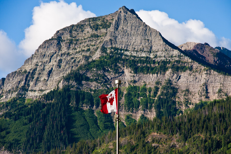 Mountains of the Rocky Mountain Front in Waterton Lakes National Park in Alberta, Canada.