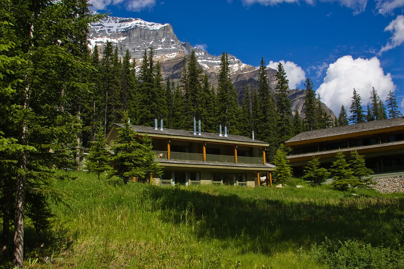 Moraine Lake Lodge, in Banff National park, Alberta, Canada, in the Canadian Rockies.