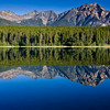 Patricia Lake near the town of Jasper in Jasper National Park, Alberta, Canada.