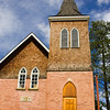 Historic Lutheran Church in the town of Jasper, in Jasper National Park, Alberta, Canada,