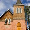 Historic Lutheran Church in the town of Jasper, in Jasper National Park, Alberta, Canada,
