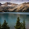 Bow Lake and Crowfoot Mountain in Banff National Park, Alberta, Canada.
