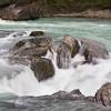 Rapids on the Kicking Horse River near Takakkaw Falls in Yoho National Park, British Columbia, Canada.