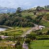 Road through Costa Rica countryside.