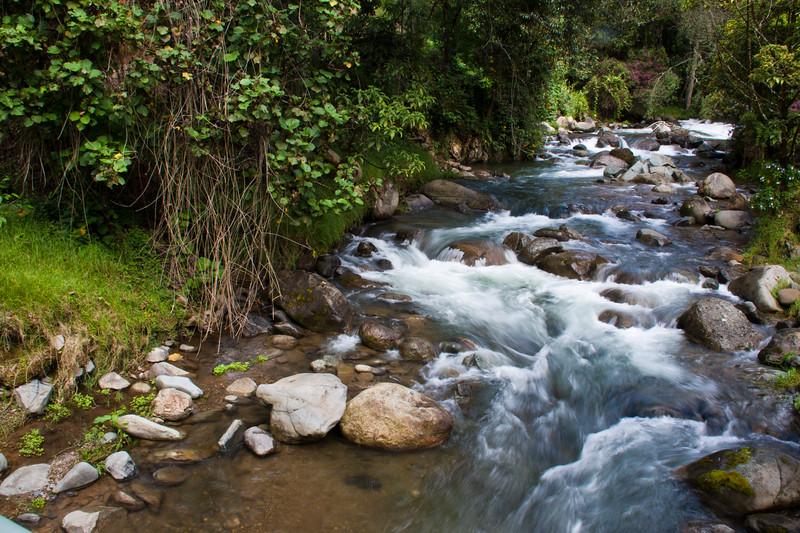Savegre River in in the Tamalanca Mountains in Costa Rica.