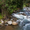 Savegre River in in the Tamalanca Mountains in Costa Rica.