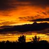 Sunset in San Jose, Costa Rica.
