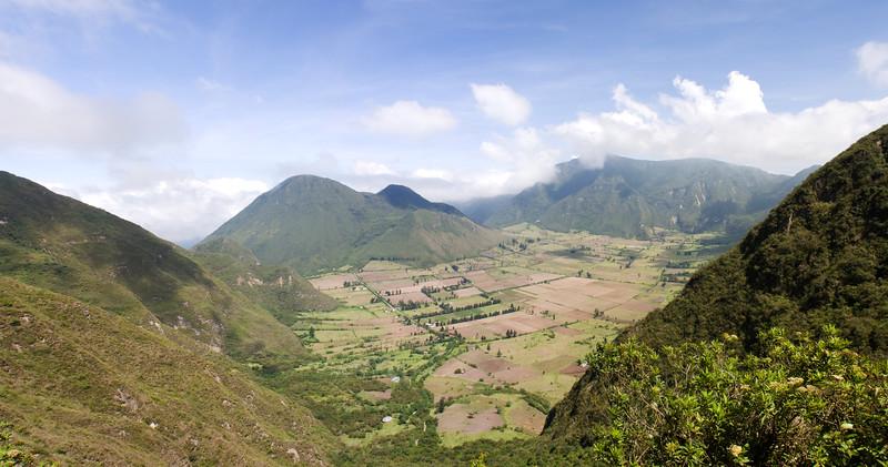 Panorama of Valley in Ecuador