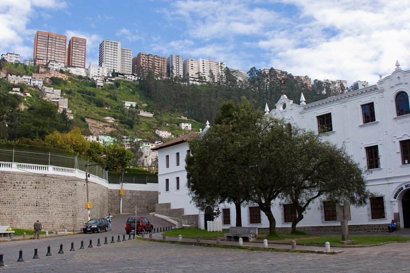 View of modern Quito from Guapulo Church